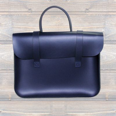 Leather Music Case – Navy Blue