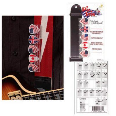Pic Stik Guitar Strap Mounted Pick Holder (with 5 Picks)